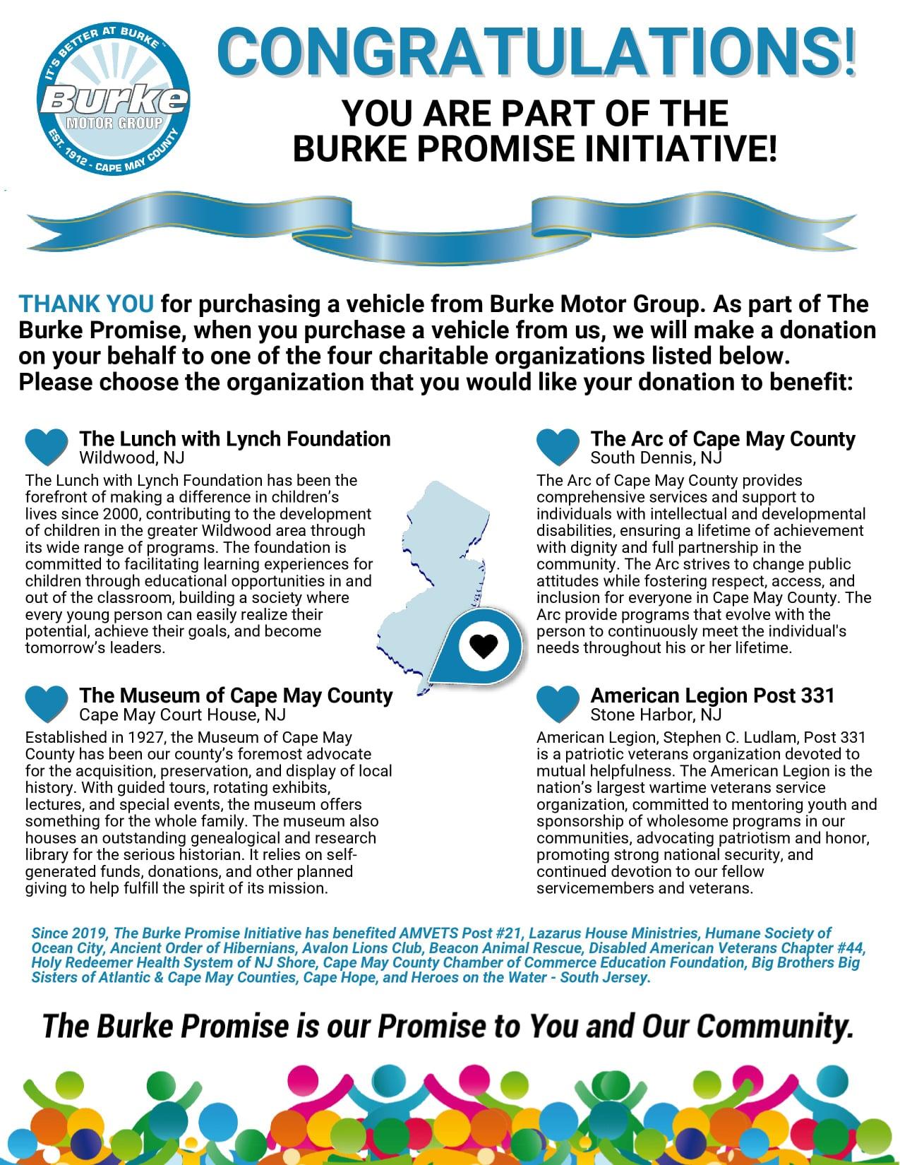 3American Legion Post 331 Recipient of Burke Promise Initiative
