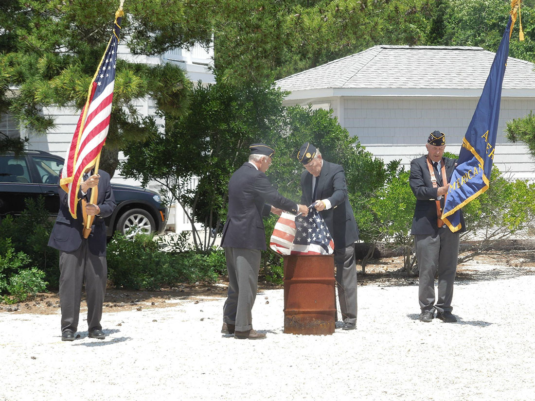 Retirement of Unserviceable Flags Ceremony